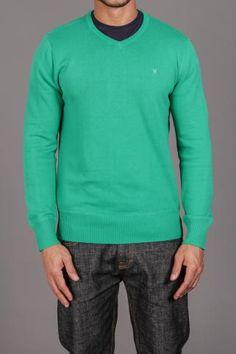 Hurley One & Only V-Neck Sweater Mallard Green