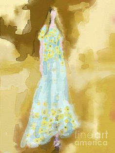 Rodarte Floral Dress Fashion Illustration - Beverly Brown Prints    Artwork: #18 of 137  Previous Next View All  Rodarte Floral Dress Fashion Illustration Painting