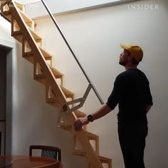 Woodworking Projects And Plans - The stairs seem perfect for a tiny home Imágenes efectivas que le proporcionamos sobre diy wohnen U - Folding Furniture, Space Saving Furniture, Home Decor Furniture, Furniture Design, Wood Furniture, Furniture Stores, Multifunctional Furniture Small Spaces, Tiny House Furniture, Outdoor Furniture