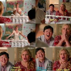 "#Glee 6x06 ""What the World Needs Now"" - Brittany and her parents"
