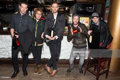 Musicians Zach Filkins, Drew Brown, Brent Kutzle, Eddie Fisher and Ryan Tedder of the band OneRepublic attend Oakley Learn To Ride In Collaboration With New Era - Day 1 - 2013 Park City on January 18, 2013 in Park City, Utah.