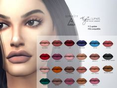 MATTE LIPSTICKS UPDATE (V.3) at SERENITY • Sims 4 Updates