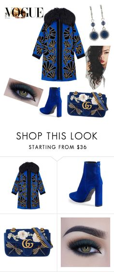 """""""Untitled #66"""" by amiranda98 on Polyvore featuring Andrew Gn, Stuart Weitzman, Gucci, Too Faced Cosmetics and Nine West"""