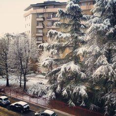 Good morning #Milan. #snow #italy