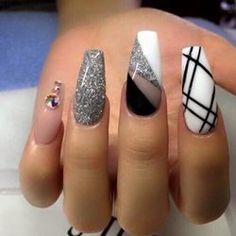decoracion de uñas de acrilico con cintilla - Buscar con Google