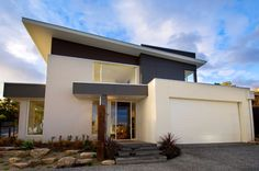 The best modern house designs. Find cool ultra modern mansion blueprints, small contemporary 1 story home designs & more! Contemporary House Plans, Modern House Plans, Modern House Design, Modern Style Homes, Prefabricated Houses, Modern Mansion, House Layouts, Mid Century House, Future House