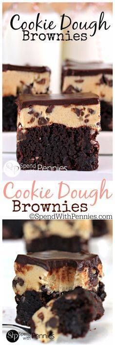 Rich fudgy brownies Rich fudgy brownies with an eggless cookie... Rich fudgy brownies Rich fudgy brownies with an eggless cookie dough layer topped with a silky chocolate ganache! These are amazing. Recipe : http://ift.tt/1hGiZgA And @ItsNutella http://ift.tt/2v8iUYW