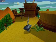 El juego comienza cuando Bugs Bunny se dirige a Pismo Beach, pero al tomar el camino incorrecto llega a parar a un granero, donde encuentra una gran máquina, a la que Bugs confunde con una gigantesca máquina de jugo de zanahoria. En cuanto a estética del juego se basa en describir a través de la imagen las 5 diferentes eras con estéticas completamente diferentes. El espacio se va ampliando a medida que se avanza en el juego. Mucha diversidad de colores en un mismo plano.