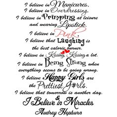 Yes......being a girl!!