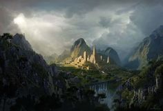 Create an Epic Fantasy Digital Matte Painting Tutorials Fantasy Landscapes & Scenery Paintings & Airbrushing Photoshop Scene Tutorial