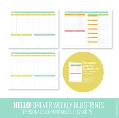 WEEKLY BLUEPRINT 3.75x6.75 by marcypenner on Etsy, $4.49
