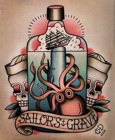 american traditional tattoosamerican traditional octopus tattoo Tattoos Pinterest 38NHdpMh