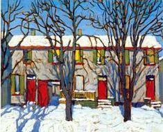 Canadian artist Lawren Harris ~ The Red Doors 2 Group Of Seven Art, Most Famous Artists, Canadian Artists, Urban Landscape, House Painting, Red Doors, Art World, Painting Inspiration, Sour Cream