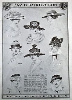 More 1916 Hats
