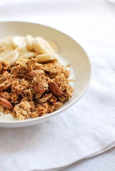 The Only Grocery Shopping List You'll Ever Need - easy breakfast: Greek yogurt with fruit and granola #theeverygirl