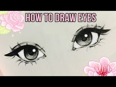 Drawing Eyes How to Draw Eyes ♡ Realistic Face Drawing, Cute Eyes Drawing, Nose Drawing, Realistic Eye, Art Drawings Sketches, Cartoon Drawings, Easy Drawings, Drawing For Beginners, Drawing Tutorials
