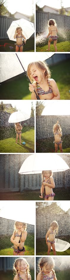 One of my favorite photo sessions we ever did was of a kid playing in sprinklers... it's time to bring it back.