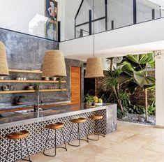 Tropical House Design, Tropical Interior, Tropical Home Decor, Tropical Style, Modern Tropical House, Home Decor Kitchen, Kitchen Interior, Home Interior Design, Home Kitchens