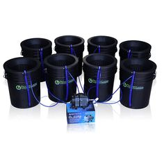 """Purchase link https://amzn.to/2lJt3cm  About Product : 1. Easy to use complete Deep Water Culture Hydroponic System! 8 Growing Sites! 2. Deep Water Kit Includes Industrial Air pump, air lines, air stones, 10"""" basket lids, (8) 5 gallon FDA buckets + 1 Year USA Warranty (Beware - some other brands do not include airstones which results in lower oxygen levels!) 3. Each Deep Water Culture bucket includes a water level indicator and drain so water changes are easy!"""