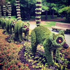 #lemurs #Madagascar #plants #sculpture #montreal #botanical #garden | By