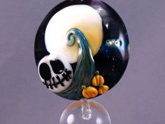 halloween bead nightmare scene skull glass bead by my etsy friends pinterest halloween beads beads and etsy