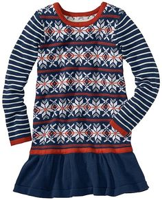 Norse Star Sweater Dress from #HannaAndersson.