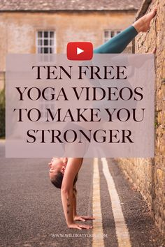 Looking to finally nail that handstand? Or just want to be able to do a push up without feeling like you're about to die? Here are ten YouTube videos with a focus on building strength that will get you feeling strong and ready to take on the world!! #yoga #yogavideo #yogaworkout Free Yoga Videos, Free Yoga Classes, Become A Yoga Instructor, Self Care Activities, Love Tips, Handstand, Wellness Tips, Best Self, Self Improvement