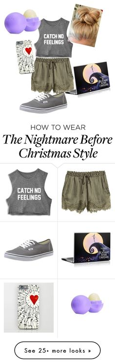 """chill day"" by hoppieluvsu on Polyvore featuring H&M, Vans, Eos, women's clothing, women, female, woman, misses and juniors"