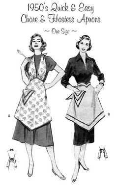 Making vintage aprons is my new favorite thing to do! Will probably buy this pattern!
