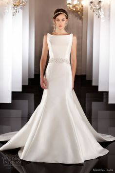 martina liana fall 2013 wedding dress style 448 sleeveless straps
