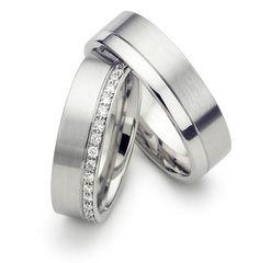 7\/28-8\/10 His & Hers Wedding RingsMatching Wedding Bands14K White Gold Wedding