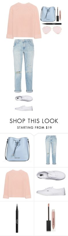 """""""Untitled #356"""" by dutchfashionlover ❤ liked on Polyvore featuring Armani Jeans, Current/Elliott, iHeart, Vans, Stila, Burberry and pastel"""