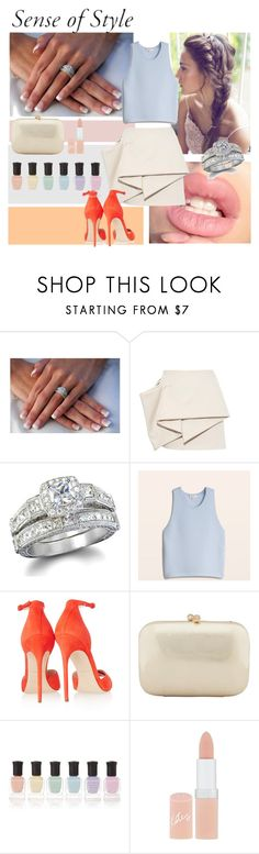 """""""sense of style"""" by lizevly ❤ liked on Polyvore featuring Marc by Marc Jacobs, Fantasy Jewelry Box, Brian Atwood, Serpui, Deborah Lippmann, Rimmel, classy, ring, Elegant and bestdayofyourlife"""