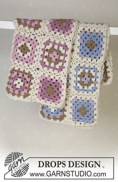 Crochet blanket in 2 different colours with 2 threads of Alpaca
