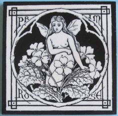 """From the rare series of twelve """"Spirit of the Flowers"""", here is """"Primrose"""". It is Minton pattern No. 1347 which, as Austwick states, has been variously attributed to John Moyr Smith, C.O. Murray or..."""