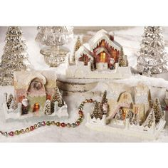 Vintage Paper Houses - The Holiday Barn