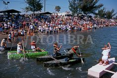 PLASTIC BOTTLE BOAT RACE, FLORIDA