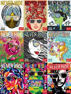 La sélection de publicité Ray Ban Nerver Hide