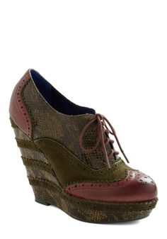 Give Me the Zoologist Wedge by Poetic License #ModCloth (acquired through a swap)