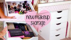 New Makeup Storage & Organization   Ikea Alex Drawer Unit DUPE! Recollec...