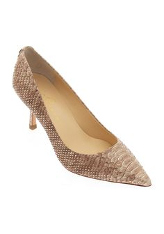 Indica Embossed Snake Low-Heel Pump, $130