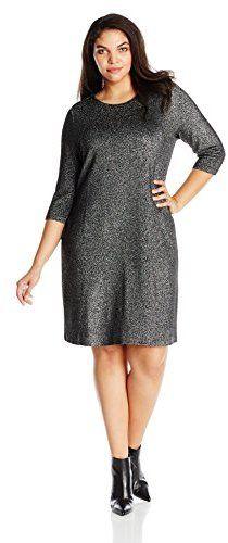 d909529483a Karen Kane Women s Plus-Size Metallic Knit Dress