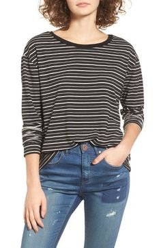 Free shipping and returns on Socialite Stripe Tee at Nordstrom.com. Dropped shoulders and a draped silhouette contribute to the relaxed vibe of this striped tee you'll want to wear every day.