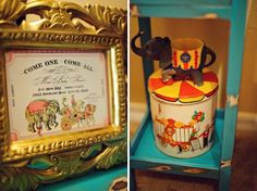 I love the the birth announcement. Vintage Circus Themed Nursery