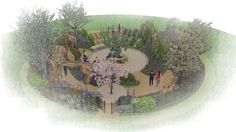 Explore the line-up of more than 30 exciting show gardens and features at the RHS Hampton Court Flower Show in 2017 Hampton Court Flower Show, Rhs Hampton Court, Sensory Garden, Annual Flowers, Chelsea Flower Show, Article Design, Fruit Trees, Hedges, Shrubs