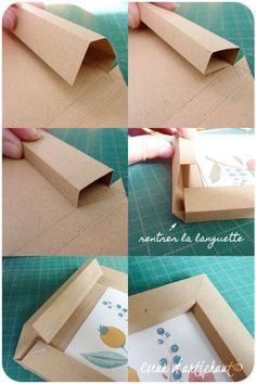 The best DIY projects & DIY ideas and tutorials: sewing, paper craft, DIY. DIY Gifts & Wrap Ideas 2017 / 2018 Cadre en papier, tutoriel Coeur d'artichaut© -Read Diy Photo, Cadre Photo Diy, Cardboard Picture Frames, Paper Frames, Handmade Picture Frames, Paper Boxes, Frame Crafts, Diy Frame, Marco Diy
