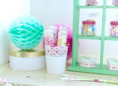 Push pops from a Mint To Be BFF Valentine's Day Party on Kara's Party Ideas | KarasPartyIdeas.com (19)