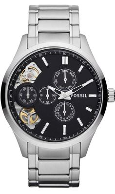 FOSSIL Dress Twist Stainless Steel Watch, Fossil Watch Men