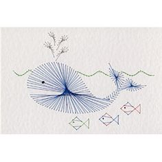 Whale | Animals and Birds patterns at Stitching Cards.