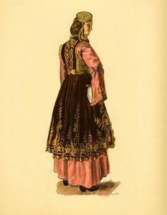 Φορεσιά Ιωαννίνων. Costume from Jannina. All rights reserved. Ethnic Fashion, Fashion Art, Womens Fashion, Ancient Greek Costumes, Greek Traditional Dress, Fashion Illustration Template, Greece Fashion, Costumes Around The World, Islamic Paintings